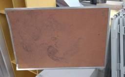Mural / quadro de aviso em cortiça com moldura em alumínio (Ver Descritivo) 60 cm x 90 cm
