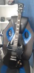 Guitarra Shelter Detroit SG Preta