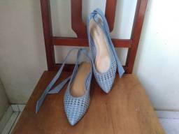 Sapatilha Anacapri azul bico fino (usada)39