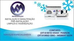 Instalação / manutenção preventiva / Higienização