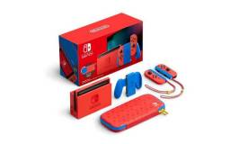 Console Nintendo Switch 32GB Mario Red e Blue Edition - (extend battery)