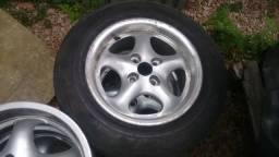"""Rodas 14"""" 4x100 um Par de rodas (2) Porsche para Carretinha ou Trailer"""