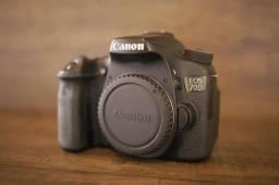 Câmera DSlr Canon EOS 70D corpo + caixa e acessorios