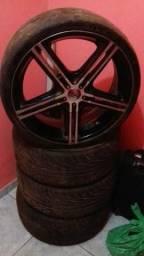 Roda aro 20 universal com 2 pneus bons