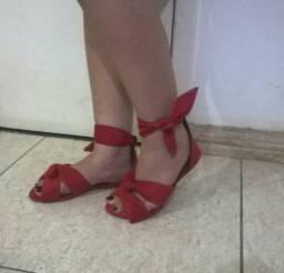 Sandalia vermelha