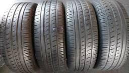 Quatro pneus 195/55/15 Pirelli P7 semi novo