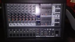 Mesa Amplificada Behringer PMP1280S 1200rms troco por amplificador