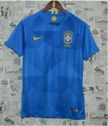 Camisa Seleção Brasil II 2018 s/n° - Torcedor Nike Masculina - azul