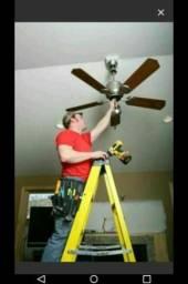 Eletricista Inst 35,00 ventilador qualquer modelo