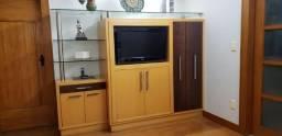 """Móvel para TV - Painel - Vidro - Estante - Rack - TV até 32"""" - Sala"""
