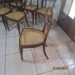 Jogo de 6 cadeiras Austríacas séculoxvIII