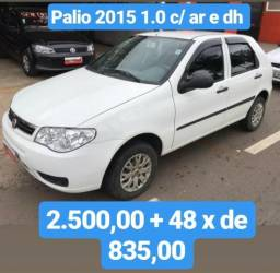 Palio 2015 1.0 Com Ar E Direção 2.500,00 Mais 48 De 835,00 - 2015