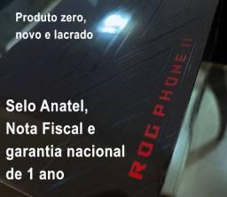 ROG Phone II, Zero, Lacrado, Garantia de 1 ano, Nota Fiscal, Anatel, 128gb e 8gb de RAM