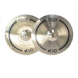"""Chimbal Orion X10 Hi-Hat 15"""" - Produto usado em excelente estado"""