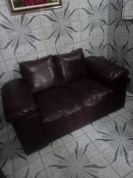 Vendo sofá couro 2 e 3 lugares