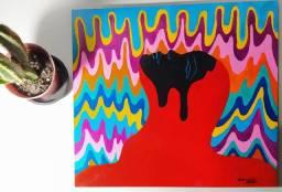 Quadros artísticos feitos á mão