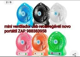 Mini ventilador recarregável potente