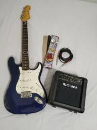 Guitarra RX 20 + amplificador + cabo + alça