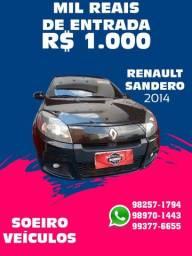SANDERO 2014 1.0 ENTRADA R$1.000