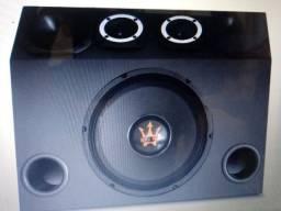 Caixa Trio Completa 1030 w rms Wofer Magum Rex Power 12 RP-550 +driver+Tweeter+corneta