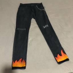 Calça jeans personalizada