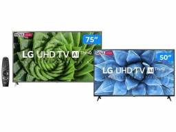Combo Smart TV 4K LED IPS 75? LG 75UN8000PSB - Wi-Fi + Smart TV UHD 4K LED 50