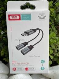 Título do anúncio: Adaptador 3. USB-C to Tipo-C + P2 fêmea