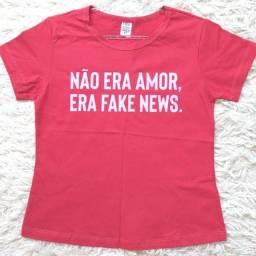 Título do anúncio: Camiseta Não Era Amor, Era Fake News