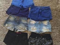 Título do anúncio: Vendo lote de shorts super conservados!