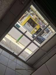 Porta de vidro duas folhas, 350 reais