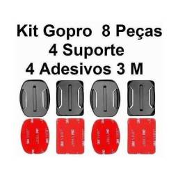 Kit 2 Base Reta, 2 Curva Para Gopro Adesivo 3m Total 4 Base - Loja Natan Abreu