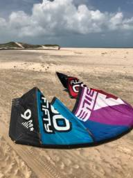 Kite Nobile 50/50 9m com barra Nobile