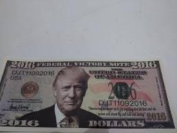 Dinheiro Cédula Nota Dollar de mentira Souvenir Donald Trump Vitória eleições 2016