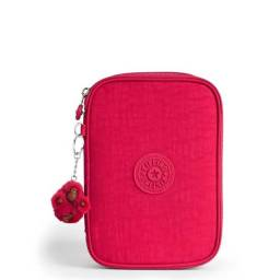 Estojo kipling 100 pens true pink original