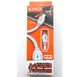 Cabo Carregador Dados Tipo C Turbo Rápido Reforçado Kaidi 69