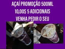 Açai 500ml por 10 reais