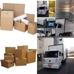 Frete frete caminhão bau temos caixas e MANTAS CORDAS