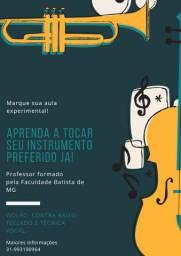 Aulas de violão, contra baixo, teclado e técnica vocal