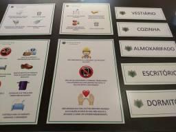 Plaquinhas placas em PVC