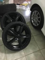 Jogo de rodas e pneus ARO 19
