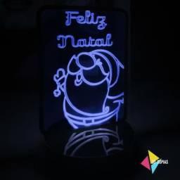 Luminária De Papai Noel - Várias Cores -