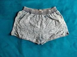 Short tecido jeans estilo moletom tam G