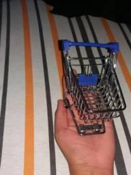 Mini carrinho de super mercado
