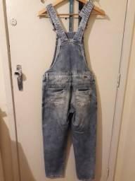 Macacão jeans despojado
