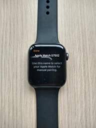 Relógio iwatch 4 44mm gps space gray c/ pelicula c/ caixa