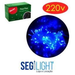 Cordão Luminoso 100 Lâmpadas - Azul