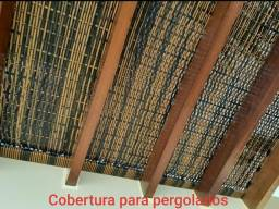 Cobertura de pergolados em fibra sintética