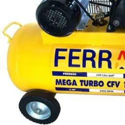 Compressor de Ar Mega Turbo 2CV Bivolt 100 Litros Ferrari CFV10/100L