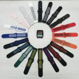 Pulseira aerada com fecho invertido (amazfit bip, gts, Samsung Galaxy Watch Active)