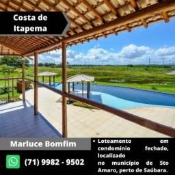 Lotes em Saúbara - Praia privativa - Condomínio Costa de Itapema